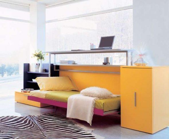 кровать со столом трансформер