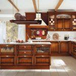 кухня из вишневого дерева