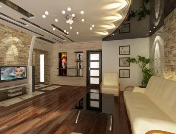 низкие потолки в гостиной