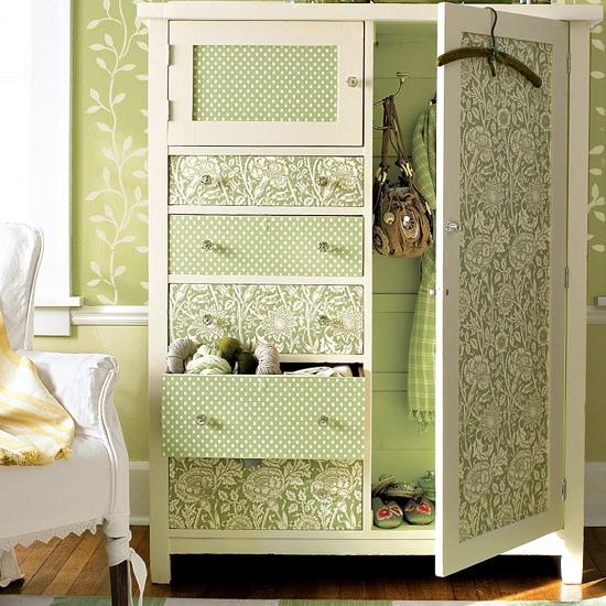 Декорация старого шкафа