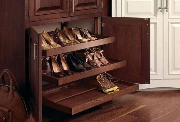 обувница из дерева