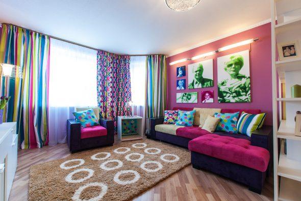 спальня гостиная с диваном
