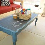 окрашенный столик