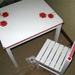 окрашивание и декупаж стола