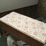 окрашивание стола через тюль