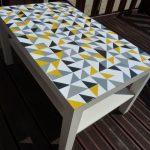 окрашивание стола мозаика