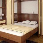 откидная подемная кровать в шкафу