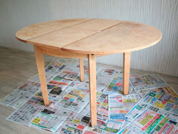 подготовка стола к покраске