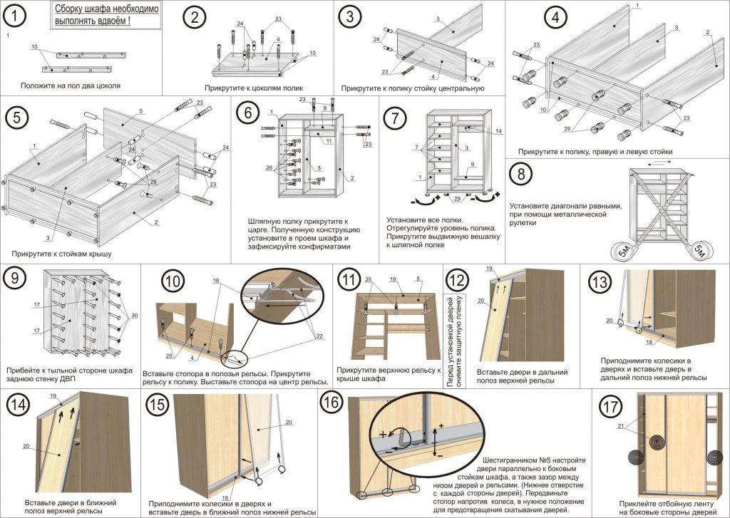 роникон шкафа инструкция сборки