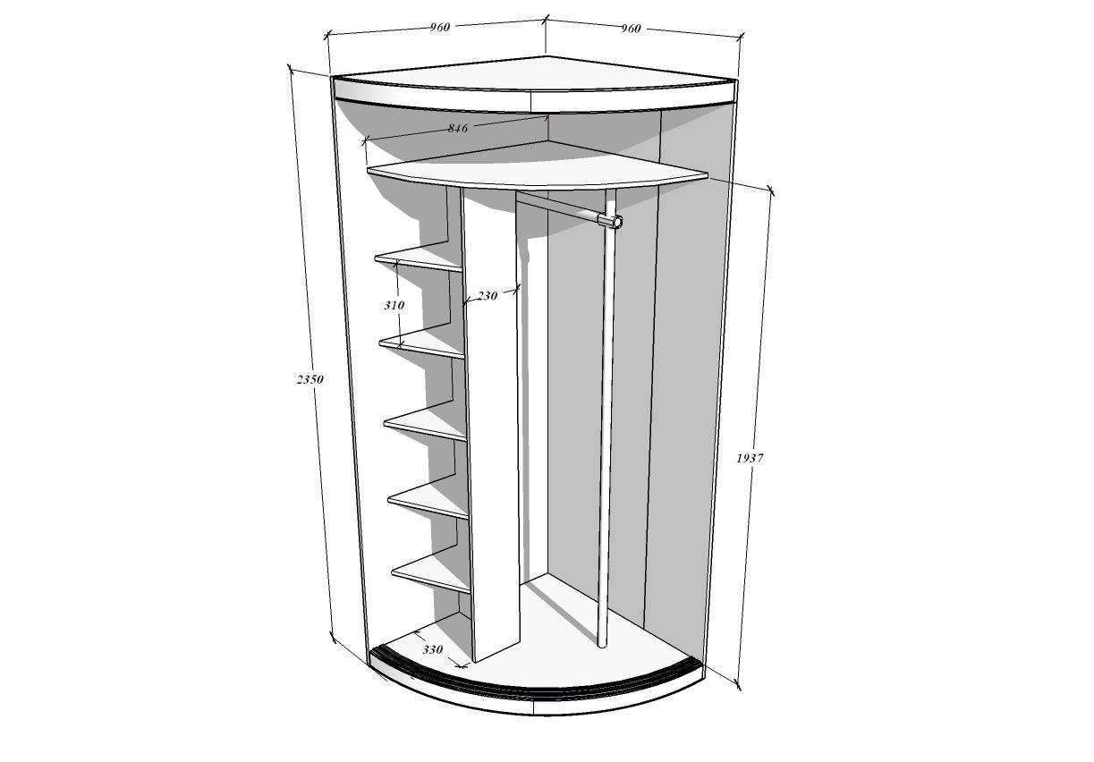 Как сделать радиусный шкаф купе
