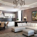 расстановка мебели в современной квартире