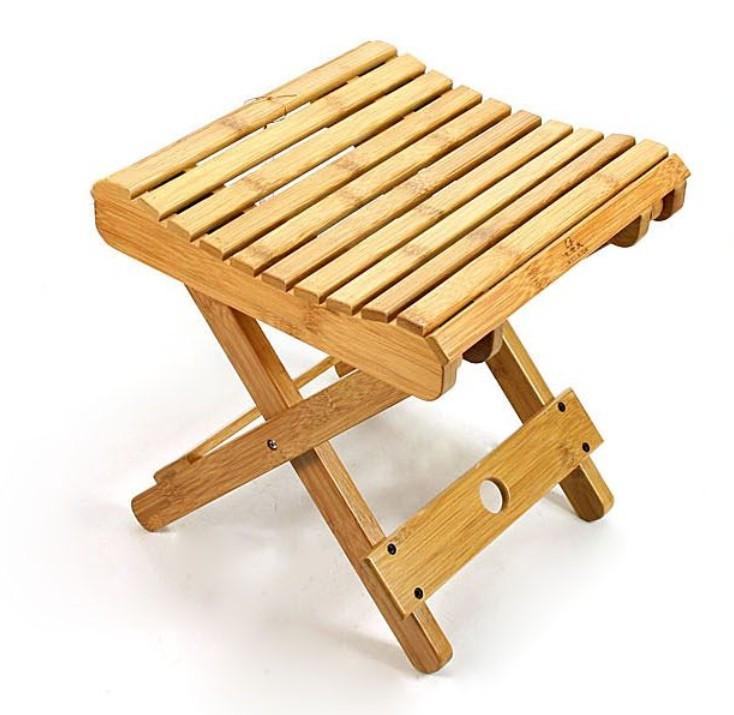 Деревянный складной стул для рыбалки