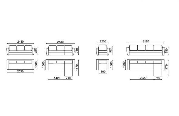 шема разборки углового дивана
