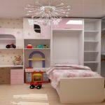 шкаф-крова-стол детский вариант оформления комнаты