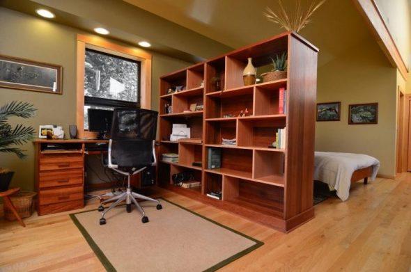 шкаф перегородка для кабинета и спальни