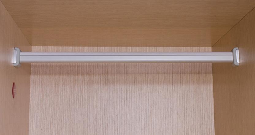 Штанга для шкафа 15х30 мм, l=3000мм, отделка алюминий + серы.