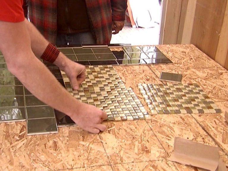 Столешница из плитки на кухне своими руками видео