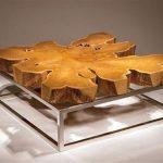 дизайн столика из спила дерева