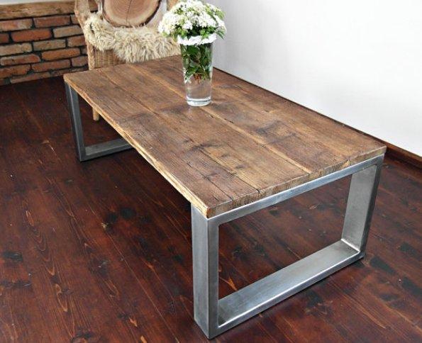 Деревянный стильный столик своими руками