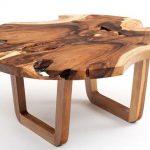 столы из среза дерева