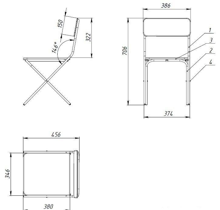 Как сделать стул со спинкой своими руками чертежи 694