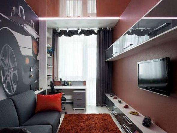 уютная длинная и узкая комната