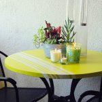 украшение стола покраска полосами