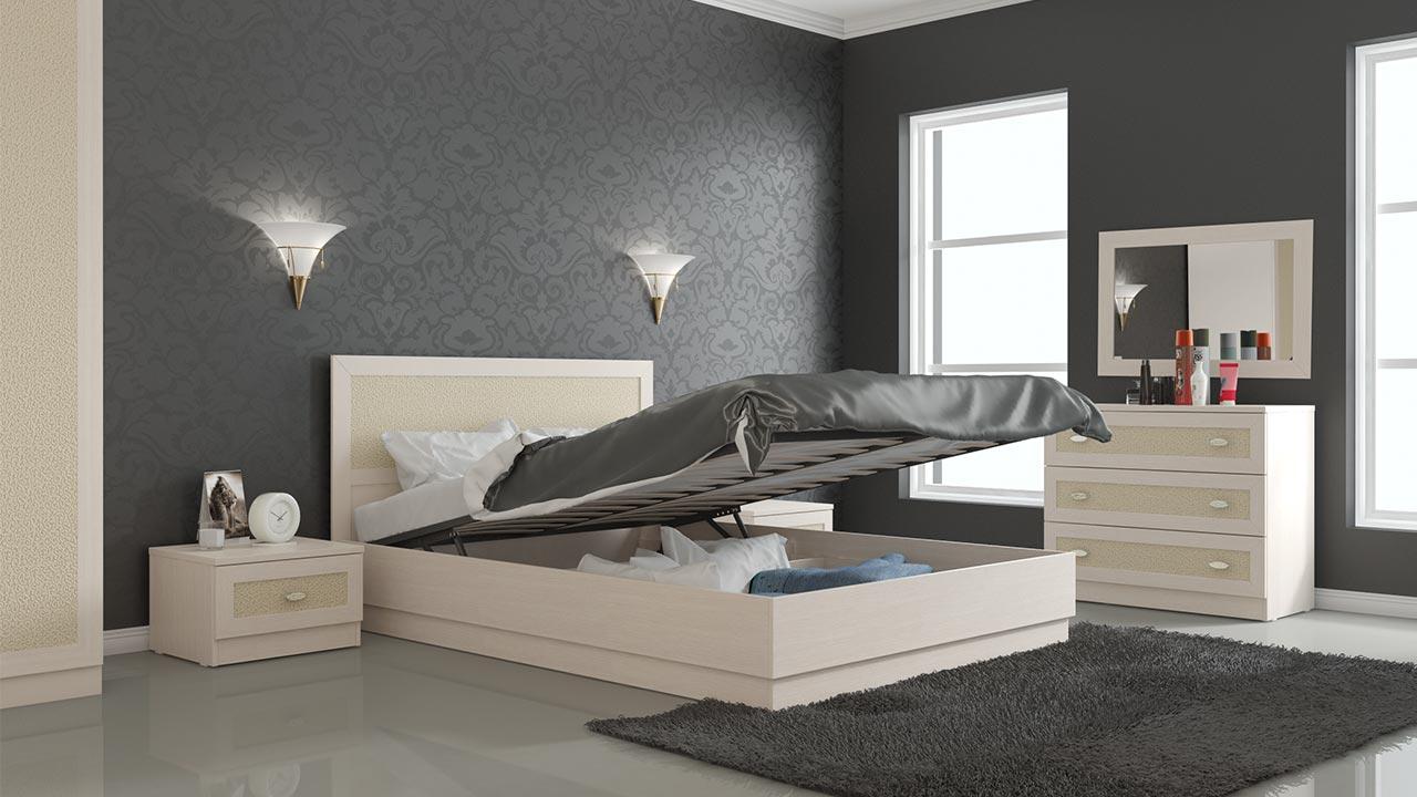уютная кровать для квартиры