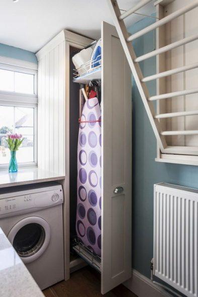 встроенная гладильная доска в шкаф