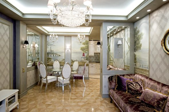 зеркало в интерьере комнаты