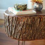 журнальный столик из среза дерева или пенька