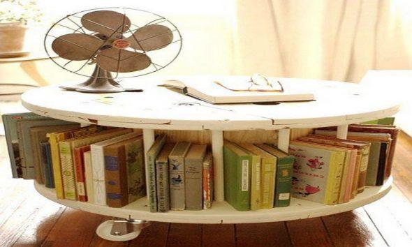 журнальный столик своими руками из катушки от промышленного кабеля