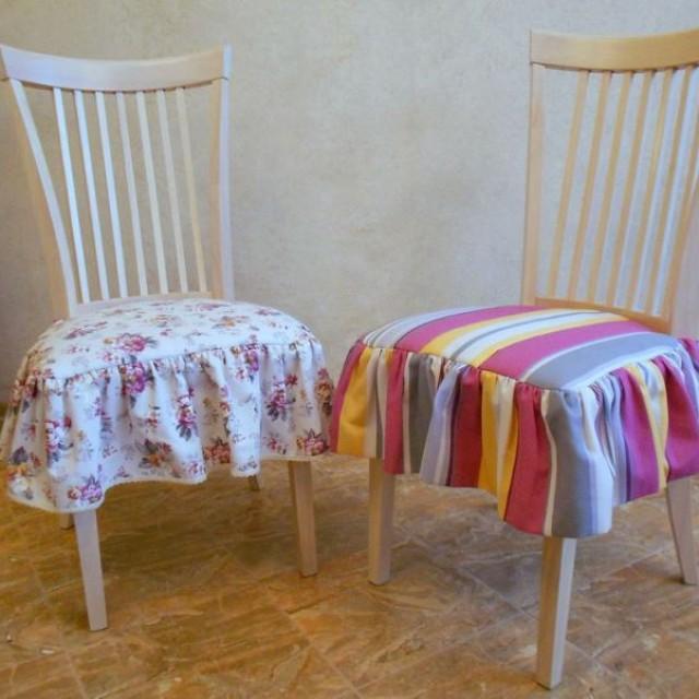 Чехлы на кухонные стулья круглые