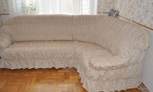 накидка на диван угловой фото своими руками