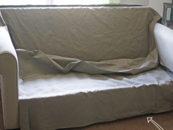 Чехол на диван своими руками