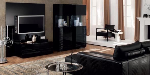 Черная мебель добавит немного дерзости в интерьер