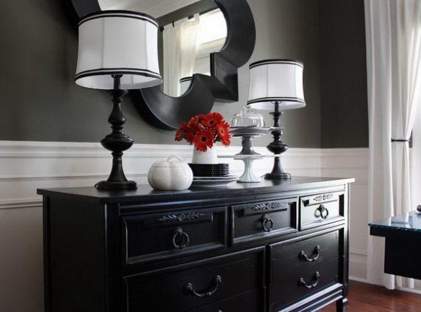 Черная мебель и интерьерный стиль