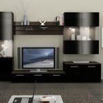 Черная модульная мебель в гостиную