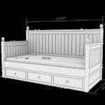 Деревянные детские кровати чертеж