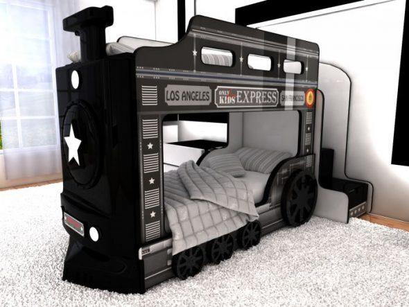 кровать локомотив