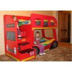 Детская двухъярусная кровать Лондонский автобус