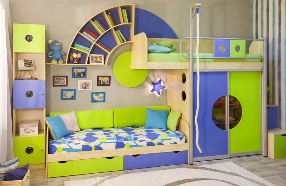 Детская мебель для двух мальчиков: секреты компактного разме.