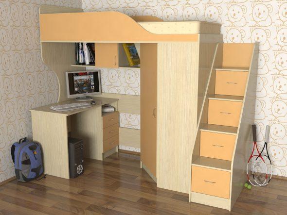 Детская кровать-чердак – для сна, игры и приключений