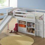 Детская кровать-чердак Бамбино Белая
