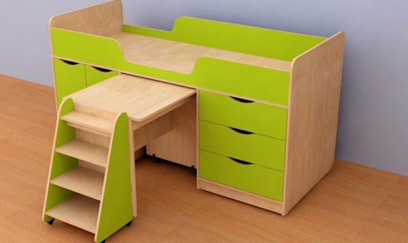 Детская кровать-чердак Караван