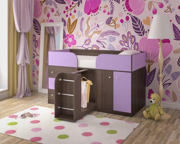 Детская кровать чердак Малыш