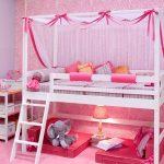 Детская кровать-чердак Принцесса