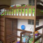 Детская кровать - чердак из дерева