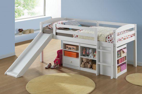 детская кровать с лесенкой и горкой
