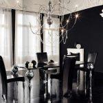 Дизайн гостиной черного цвета